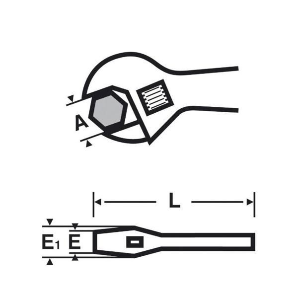 Klucz główkowy o dużym rozwarciu szczęk VIRAX [RÓŻNE MODELE DO WYBORU]