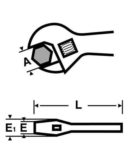 """Odwracalny klucz szczękowy VIRAX 12"""" 017033"""